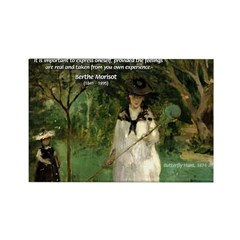 Berthe Morisot Art Quote Rectangle Magnet (10 pack