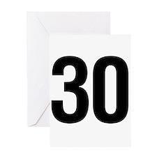 Number 30 Helvetica Greeting Card