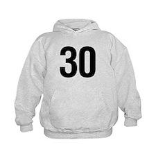 Number 30 Helvetica Hoodie