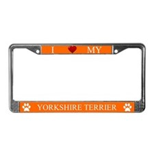 Orange I Love My Yorkshire Terrier Frame