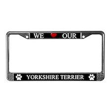 Black We Love Our Yorkshire Terrier Frame