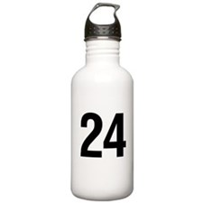 Number 24 Helvetica Water Bottle