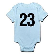 Number 23 Helvetica Infant Bodysuit