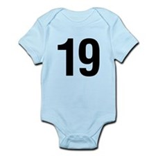 Number 19 Helvetica Infant Bodysuit
