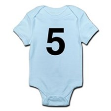 Number 5 Helvetica Infant Bodysuit