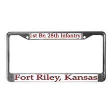 1st Bn 28th Infantry License Plate Frame