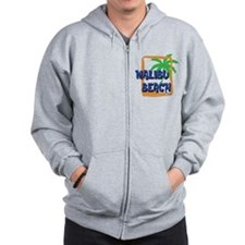 Malibu Beach Palm Tree Zip Hoodie
