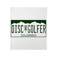CO Disc Golfer Throw Blanket