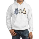 Three 3 Cats Hoodie