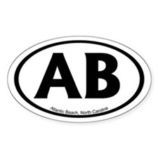 Atlantic Beach Oval Stickers