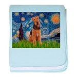 Starry - Airedale #1 baby blanket