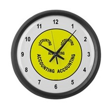 Accounting Smiley Large Wall Clock