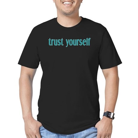 Trust Yourself Men's Fitted T-Shirt (dark)