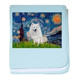 Starry-Am. Eskimo Dog baby blanket
