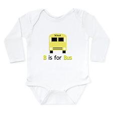 yellow school bus Long Sleeve Infant Bodysuit
