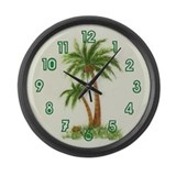 Twin palms Large Wall Clock