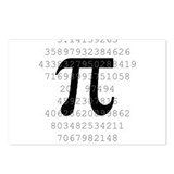 The Number Pi Postcards (Package of 8)