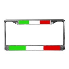 Italian Flag License Plate Frame