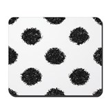 Black & White Fuzzy Dots Mousepad