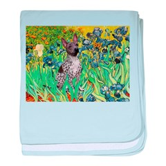 Irises-Am.Hairless T baby blanket