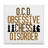 Funny Chess Addict Tile Coaster