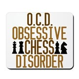 Funny Chess Addict Mousepad
