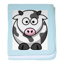 cow drawing baby blanket
