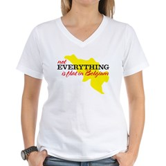 not everything is flat in Bel Women's V-Neck T-Shi