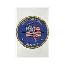 USS Norfolk SSN 714 Rectangle Magnet