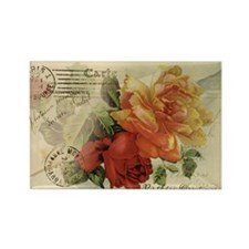 Vintage Paris Roses Rectangle Magnet (10 pack)