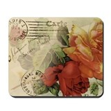 Vintage Paris Roses Mousepad