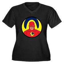 Star Hawk Women's Plus Size V-Neck Dark T-Shirt
