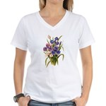 Japanese Irises Women's V-Neck T-Shirt