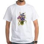 Japanese Irises White T-Shirt