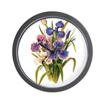 Japanese Irises Wall Clock