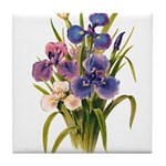 Japanese Irises Tile Coaster