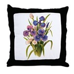 Japanese Irises Throw Pillow
