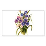 Japanese Irises Sticker (Rectangle 50 pk)