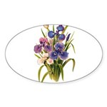 Japanese Irises Sticker (Oval 50 pk)