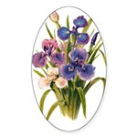 Japanese Irises Sticker (Oval 10 pk)