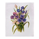Japanese Irises Throw Blanket
