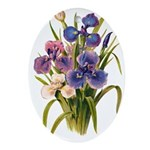 Japanese Irises Ornament (Oval)