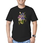 Japanese Irises Men's Fitted T-Shirt (dark)