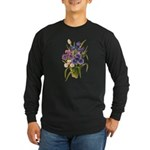 Japanese Irises Long Sleeve Dark T-Shirt