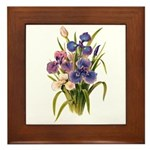 Japanese Irises Framed Tile