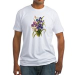 Japanese Irises Fitted T-Shirt