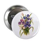 "Japanese Irises 2.25"" Button"