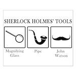 Sherlock Holmes' Tools Small Poster