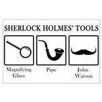Sherlock Holmes' Tools Large Poster