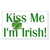 Kiss Me I'm Irish Decal